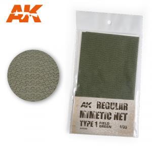 AK Interactive REGULAR CAMOUFLAGE NET Type 1 FIELD GREEN
