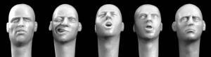Hornet Models 5 Bald European Heads