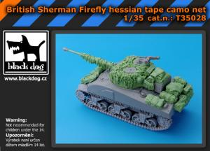 Black Dog British Sherman Firefly - Hessian Tape Camo Net