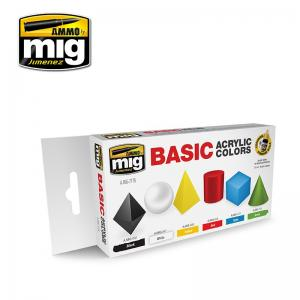 Ammo Mig Jimenez Basic Acrylic Colors