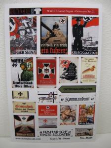 Reality in Scale Enamel Signs WWII - Germany set 2 - 19 signs