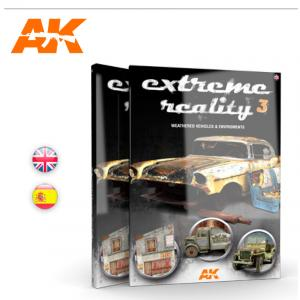 AK Interactive EXTREME REALITY 3 - Weathered vehicles and environments - English