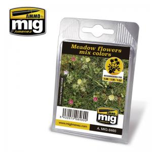 Ammo Mig Jimenez Laser Cut Plants - Meadow Flowers, Mix Colors