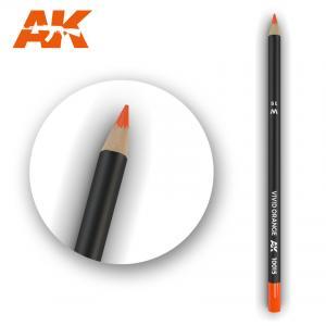 AK Interactive Watercolor Pencil Vivid Orange