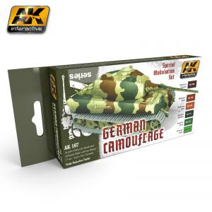 AK Interactive GERMAN GREEN AND BROWN MODULATION SET