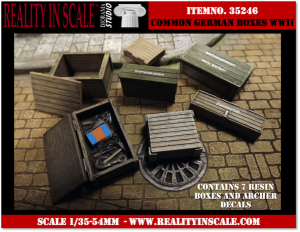 Reality in Scale Common German Boxes - 10 resin pcs. & Archer decals