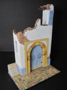 Reality in Scale Ruined North African House - 7 resin pcs. & brass detail parts. House measu