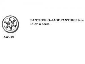 Friulmodel Panther G/JagdPanther - Idler Wheels