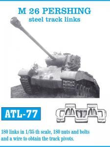 Friulmodel M26 Pershing, steel track links - Track Links