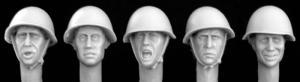 Hornet Models 5 heads, Soviet WW2 helmet