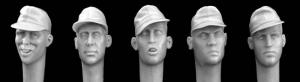Hornet Models 5 heads wearing 1st pattern SS Camouflage peaked soft cap