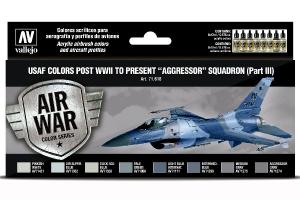 "Vallejo USAF colors post WWII to present ""Aggressor"" Squadron (Part III)"