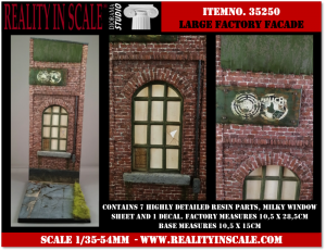 Reality in Scale Large Factory Façade with Base - 7 resin pcs. & 1 decal