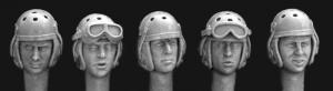 Hornet Models 5 different heads USA tank crews WWII