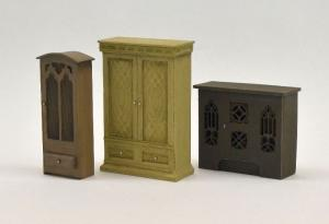 Reality in Scale Cabinet Set 3 pieces - 3 resin pcs