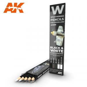 AK Interactive WATERCOLOR PENCIL SET BLACK AND WHITE