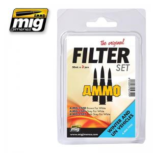 Ammo Mig Jimenez Filter Set For Winter And UN Vehicles