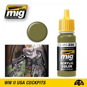 Ammo Mig Jimenez FS 34151 ZINC CHROMATE GREEN (INTERIOR GREEN)