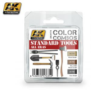 AK Interactive STANDARD TOOLS ALL ERAS COLOR COMBO