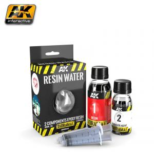 AK Interactive RESIN WATER 2-COMPONENTS EPOXY RESIN - 180ml
