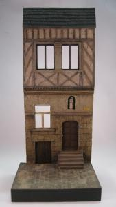 Reality in Scale Fachwerk House 1 - 4 resin pieces and laser cut cobblestone road section. I