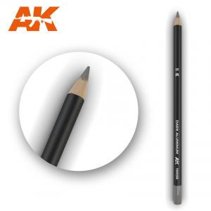 AK Interactive Watercolor Pencil Dark Aluminum Nickel