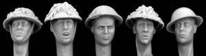 Hornet Models 5 British Camo Helmeted Heads