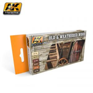 AK Interactive OLD AND WEATHERED WOOD VOL.1 COLORS SET