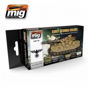 Ammo Mig Jimenez Early/Mid War German vehicles, color set 6x17ml.