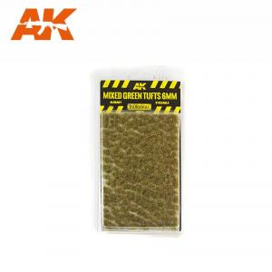 AK Interactive MIXED GREEN TUFTS 6mm