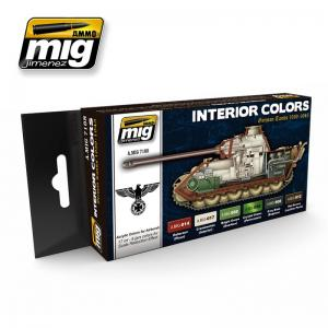 Ammo Mig Jimenez Interior Colors: German Tanks, color set 6x17ml.