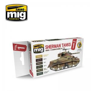 Ammo Mig Jimenez Sherman Tanks Paint Set, Vol 1 - WWII Commonwealth