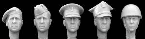 Hornet Models 5 heads, tank beret, glengarry, SD cap, Polish roga