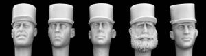 Hornet Models 5 French Foreign Legion Heads in Parade Kepis