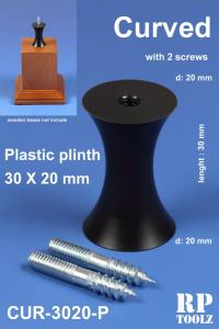 RP Toolz Plinth, Curved 30 x 20 mm, Plastic