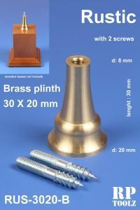 RP Toolz Plinth, Rustic 30 x 20 mm, Brass