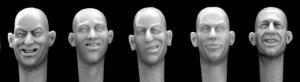 Hornet Models 5 bare heads laughing, joking