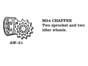 Friulmodel M24 Chaffee - Sprocket Wheels (2 pcs), Idler Wheels (2 pcs)
