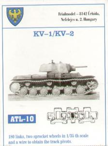 Friulmodel KV-1/KV-2 180 - Track Link Set, plus 2 Sprocket Wheels (TAM).