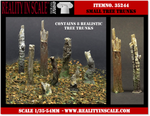 Reality in Scale Small Tree Trunks - 8 resin pcs.