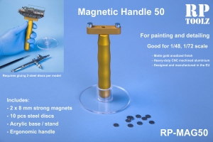 RP Toolz Magnetic Handle 50 w Stand and 10 Steel Discs