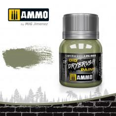 Ammo Mig Jimenez Dry Brush Paint - Light Olive Green