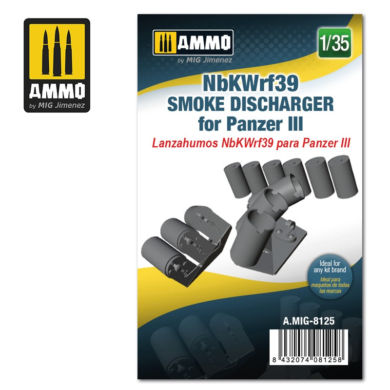 Ammo Mig Jimenez NbKWrf39 Smoke Discharger for Panzer III