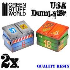 Green Stuff World USA Dumpster (2 pcs)