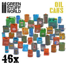 Green Stuff World Oil Cans (46 pcs)