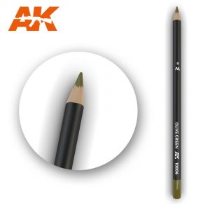 AK Interactive Watercolor Pencil Olive Green