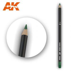 AK Interactive Watercolor Pencil Dark Green