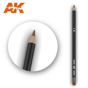 AK Interactive Watercolor Pencil Sepia
