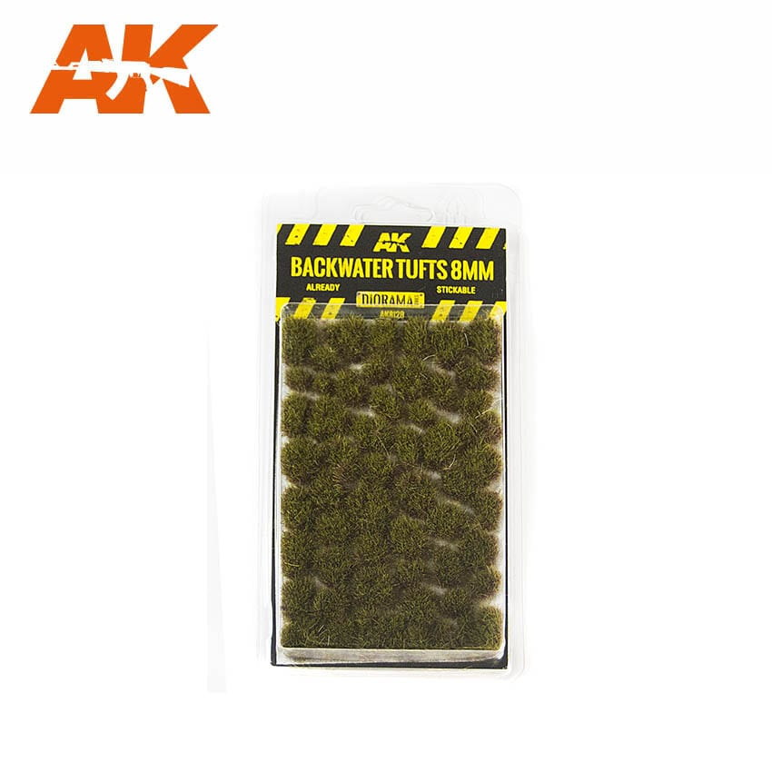 AK Interactive BACKWATER TUFTS 8mm