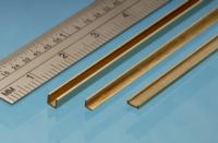 Albion Alloys Brass C-Channel - 1,0 x 2,5 x 1,0 mm